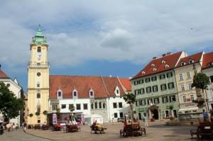 Eine Kirche in der slowakischen Hauptstadt Bratislava