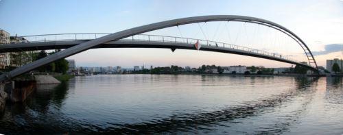 Die Dreiländerbrücke in Weil am Rhein