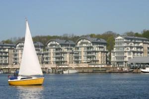 Ein Segelboot im Flensburger Hafen