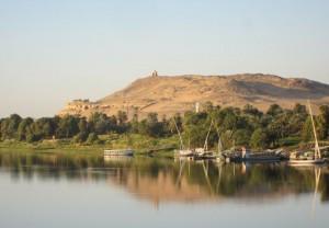 Nil Fluss Landschaft