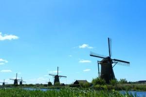 Windmühlen im holländischen Kinderdijk