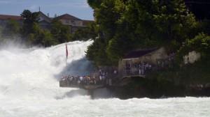 Die Rheinfall Wasserfälle in Schaffhausen