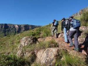 Wanderrouten führen oftmals hoch in die Berge hinaus