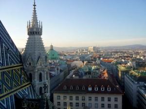 Blick vom Stephansdom auf die Wiener Altstadt