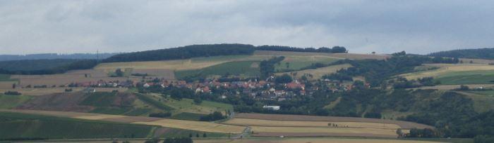 Panoramaaussicht auf Nußbaum