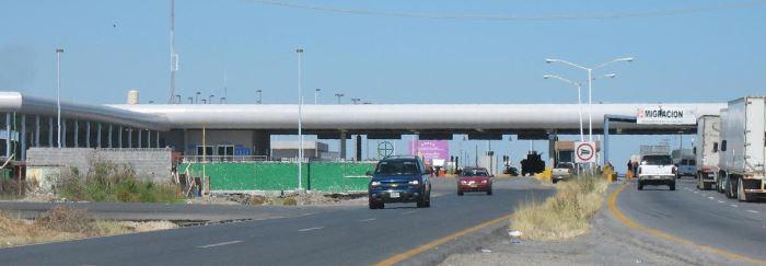 Grenzstelle in der Nähe von Nuevo Laredo, Mexiko